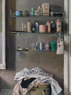 Cuarto de Baño (Bathroom), 1968 by Isabel Quintanilla on Curiator, the world's biggest collaborative art collection. Types Of Painting, Collaborative Art, Bathroom Art, Interior Paint, Painting Inspiration, Female Art, Still Life, Oil On Canvas, Contemporary Art