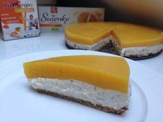 MERUŇKOVÝ DORT SE ŠMAKOUNEM Cheesecake, Clean Eating, Dairy, Treats, Sweet, Food, Autumn, Sweet Like Candy, Candy