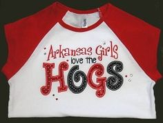 Arkansas Girls Hogs Applique - 3 Sizes! | Words and Phrases | Machine Embroidery Designs | SWAKembroidery.com Band to Bow