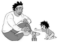 BABY HIRO AND WASABI by uponagraydawn - AWWWWWWWW! :D <<< I CAN'T HANDLE THE CUTENESS ^_^