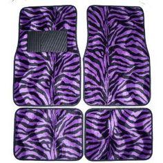 Purple Zebra White Tiger Animal Print Carpet Floor Mats for Cars / Truck - A Set of 4 Universal Fit Purple Zebra, Purple Love, All Things Purple, Shades Of Purple, Purple And Black, Purple Stuff, Zebra Stuff, 50 Shades, Car Carpet