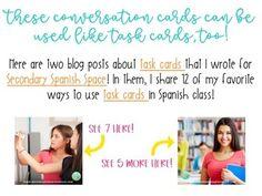 Preterite vs Imperfect Conversation Cards | Spanish Speaking Activity