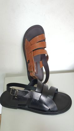 Brandjou: Shop Made in Nigeria Leather Palm Slippers and sandals. Leather Slippers, Mens Slippers, Shoemaking, Latest Tops, Samara, Fashion Sandals, Handmade Shop, Mac, Footwear