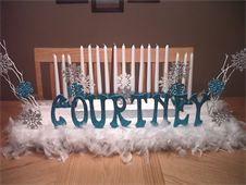 Sweet Sixteen winter candelabra