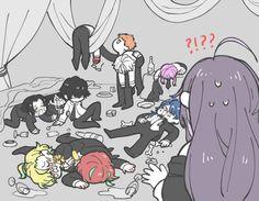Division All Stars ヒプノシスマイク(Matenrou Hypnosis Mic) HypMic (ヒプマイ) Sad Anime, Cute Anime Boy, Anime Guys, Anime Art, Manga, Harry Potter Fan Art, Rap Battle, Pictures To Draw, Akatsuki