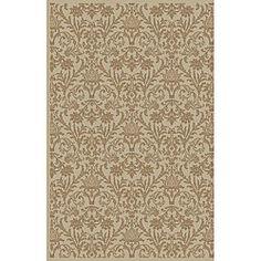 Damask Ivory Oriental Rug (7'10 x 9'10) $249.99