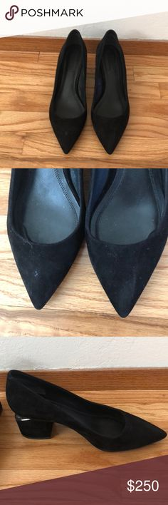 Alexander wang Solomon's pump Good condition. Black suede pump. Some minor spots on suede that can be cleaned. Comes with original box. Size 39(9). True to size. Alexander Wang Shoes Heels