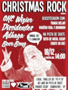 """No Próximo dia 18 de dezembro o Trailler do Pó Pi Di vai estar recheado de muito Rock! É o Christmas Rock que acontece esse Domingo dia 18 às 14h00. Se apresentarão as Bandas: - GHC Wizier - Dissidentes - Adhaga - Beer Bong E a Descotecagem fica a cargo dos Dj´s - Thiago Deejay...<br /><a class=""""more-link"""" href=""""https://catracalivre.com.br/geral/agenda/barato/christmas-rock-18-12-2011-seita-de-natal/"""">Continue lendo »</a>"""