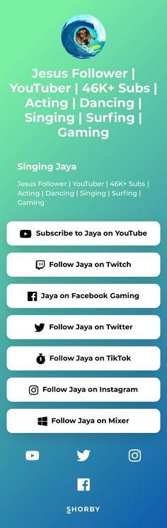 Jesus Follower | YouTuber | 46K+ Subs | Acting | Dancing | Singing | Surfing | Gaming Dance Sing, Follow Jesus, Your Music, Landing, Surfing, Ads, Youtube, Instagram, Surf