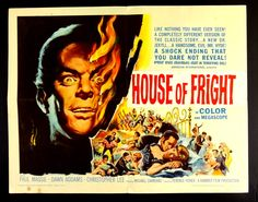 'HOUSE OF FRIGHT/THE TWO FACES OF DR. JEKYLL' (1960). Dr. Henry Jekyll experiments with scientific means of revealing the hidden, dark side of man and releases a murderer from within himself... Click on the POSTER to view the trailer...