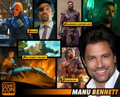 Meet Manu Bennett at #SLCC15! Known for his roles in The Hobbit, Arrow, and the upcoming tv series, The Shannara Chronicles! #utah