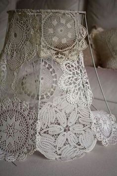 Should cast interesting shadows? More 2019 Doiley lamp shade diy. Should cast interesting shadows? More The post Doiley lamp shade diy. Should cast interesting shadows? More 2019 appeared first on Lace Diy. Doilies Crafts, Lace Doilies, Crochet Doilies, Lampe Crochet, Diy Crochet, Doily Lamp, Lace Lampshade, Lampshade Ideas, Decorate Lampshade