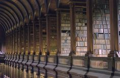 Trinity College Library Dublin Trinity Library, Factors Of Production, Celtic Images, College Library, Social Media Calendar, Book Of Kells, Ireland Homes