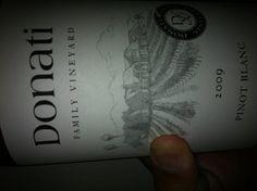 .@DonatiFamily '10 Pinot Blanc: Honeysuckle, orange blossom, white peach, yellow nectarine, honeycomb and pear.