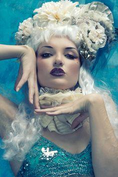 long white victorian rococo marie antoinette wig. $250.00, via Etsy.