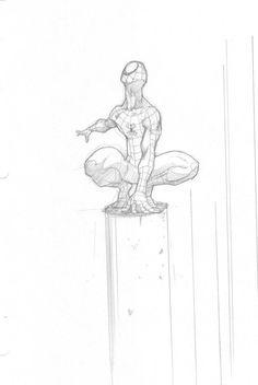 A Spider-man sketch. Comic Books Art, Comic Art, Drawing Sketches, Art Drawings, Drawing Faces, Drawing Tips, Desenho Kids, D Mark, Man Sketch