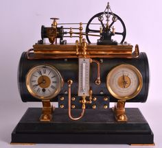 19TH CENTURY FRENCH INDUSTRIAL BOILER ENGINE CLOCK C1880 with Roman chapters