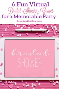 The right virtual bridal shower games can really take your online party to whole new levels of fun.   If you're struggling to come up with ideas, we've got you covered! Below, we'll take a look at some fantastic party games that anyone can play, no matter where they are.   In fact, you can even keep them handy to play when in-person parties are safe again. Bridesmaids And Groomsmen, Bridesmaid Gifts, Lesbian Wedding Rings, Wedding Tips, Dream Wedding, Bridal Shower Bingo, Game Start, Party Games, Wedding Planner