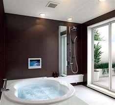Modern bathrooms create a simplistic and clean feeling. In order to design your modern bathroom make sure to utilize geometric shapes and patterns, clean lines, minimal colours and mid-century… Mold In Bathroom, Narrow Bathroom, Cheap Bathrooms, Amazing Bathrooms, Shower Bathroom, Bath Tub, Master Bathroom, Bathroom Plumbing, Cheap Bathroom Remodel