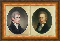 William Clark 1770-1838 And Meriwether Print By Everett
