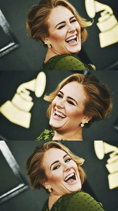 Love seeing pictures of Happy Adele! Exact opposite of the pain and sadness in her songs!