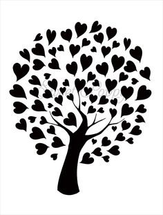 Sweet Poppy Stencil: Tree of Hearts