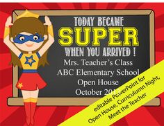 Super hero powerpoint open house curriculum night meet the super hero powerpoint open house curriculum night meet the teacher toneelgroepblik Image collections