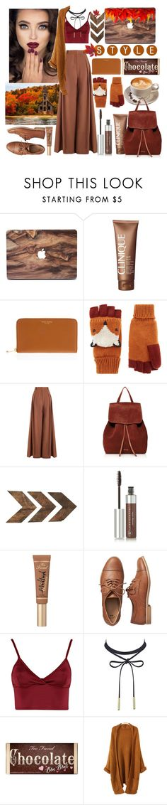 """""""fall fashion 🍁🍂🌰🍄"""" by anoo17k ❤ liked on Polyvore featuring Clinique, Henri Bendel, Accessorize, Zimmermann, Mansur Gavriel, WALL, Anastasia Beverly Hills, Too Faced Cosmetics, Gap and Lipsy"""