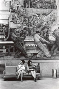 I am not sure if this can be called Street Art, but it is out in the streets though...artist- Diego Rivera