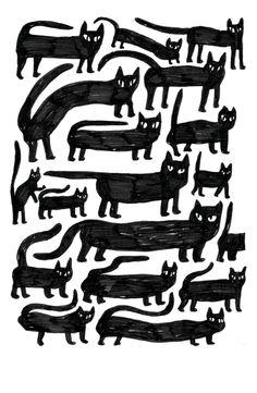Cat Party by Eva Stalinski for U Studio. Available at ustudio.design.