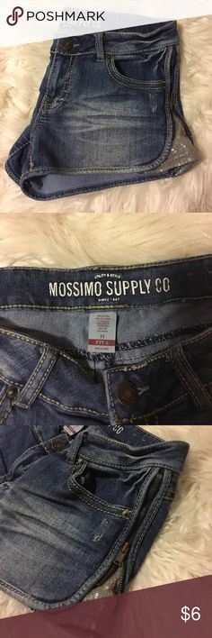 Mossimo Denim Shorts - 11 Great Condition! Cute Zipper/Sequin Design on Sides. Bought @ Target 💚⭐️ Mossimo Supply Co. Shorts Jean Shorts