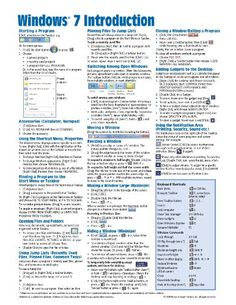 Windows 7 Quick Reference Guide (Cheat Sheet of Instructions, Tips & Shortcuts - Laminated Card)/Beezix Inc