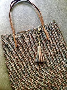 I made it   Raffia crocheted bag