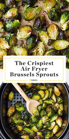 Thanks to the super-hot circulating air of the air fryer, these Brussels sprouts are super crispy on the outside and tender on the inside. Toss them in a simple shallot butter for the best-ever weeknight side. Air Fryer Oven Recipes, Air Frier Recipes, Air Fryer Dinner Recipes, Air Fryer Recipes Vegetarian, Cooking Recipes, Healthy Recipes, Skillet Recipes, Cooking Tools, Easy Recipes