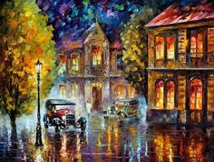 Los Angeles, 1930 — PALETTE KNIF Oil Painting On Canvas By Leonid Afremov