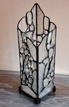 Stained glass candelero
