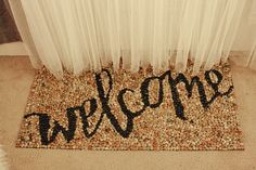 make a stone welcome mat, Jenny Highsmith