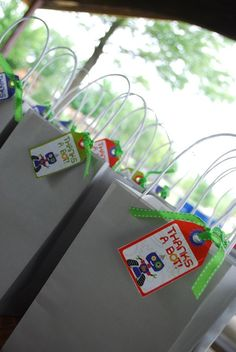 Perfect for your child's robot-inspired birthday party, these Robot Party Favors will keep the fun of the day going for your guests while ensuring they leave smiling!