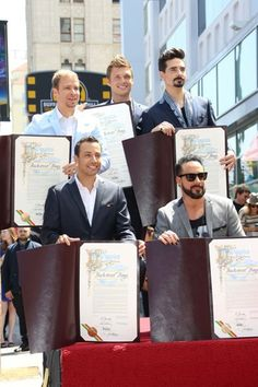 A Proud Day for the Boys and All the Fans!  Backstreet Boys get a Star on the Hollywood Walk Of Fame - April 20th 2013