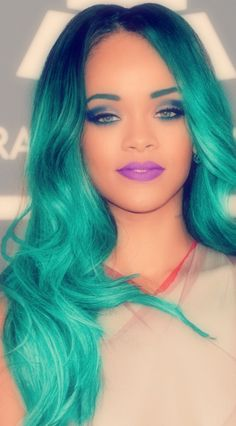 Teal Mermaid Hair✶ #Hair #Colorful_Hair #Dyed_Hair