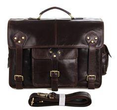 Vintage Leather Messenger Bag, Leather Duffle Bag, Leather Laptop Bag, Messenger Bag Men, Leather Briefcase, Leather Bags, Crazy Horse, Macbook Bag, Laptop Shoulder Bag