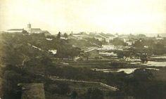 Vista da Várzea do Carmo a partir do Pátio do Colégio, 40 anos após a narrativa do francês Saint-Hilaire. Fotografia de Militão Augusto de Azevedo, 1862.