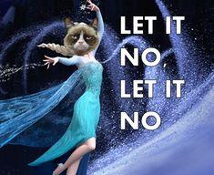 grumpy cat reacts to frozen | Frozen- Grumpy Cat Meme by Twelve-Feathers