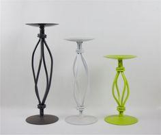 Candle Holders Set  Modern & Sophisticated  Grey by RetroPops, $34.00