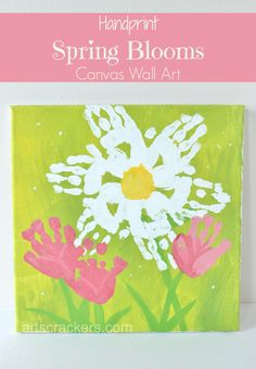 Handprint Spring Blooms Canvas Wall Art. Click the picture to view the instructions.