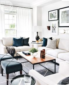 49 Top Design Ideas For A Small Living Room. Are you looking for interior decorating ideas to use in a small living room? Small living rooms can look just as attractive as large living rooms. Small Living Rooms, Curtains Living Room, Living Room Colors, Farm House Living Room, Living Room Modern, Modern Room, Room Layout, Apartment Living Room, Living Room White