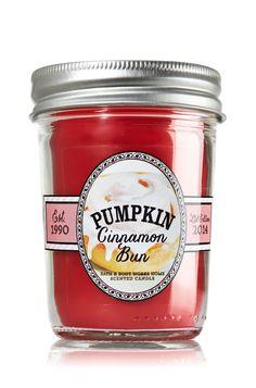 Pumpkin Cinnamon Bun Mason Jar Candle - Home Fragrance - Bath & Body Works