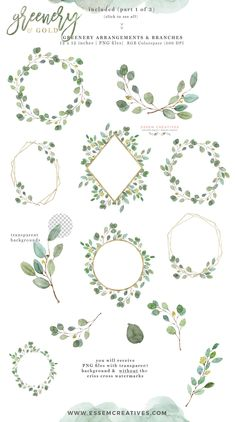Watercolor Eucalyptus Clipart Leaves Wreath Clipart Gold | Etsy Outdoor Wedding Invitations, Wedding Invitation Cards, Watercolor Wedding Invitations, Make Your Own Wedding Invitations, Invitation Card Design, Eucalyptus Branches, Eucalyptus Wedding, Gold Watercolor, Watercolor Leaves