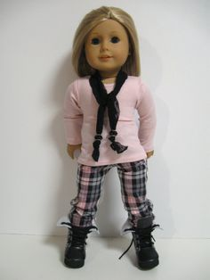 American girl doll clothes  Pretty in Plaid by 123MULBERRYSTREET