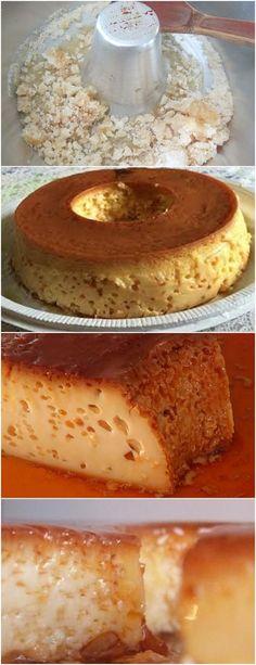 PUDIM FURADINHO,NOSSA QUE DELICIA!! VEJA AQUI>>>Caramelize uma forma própria para pudim com o açúcar Coloque os 3 primeiros ingredientes no liquidificador #receita#bolo#torta#doce#sobremesa#aniversario#pudim#mousse#pave#Cheesecake#chocolate#confeitaria